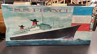 Rare New Vintage 1960's French Line S.S. France Model Kit Ringo Toy Corp