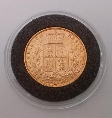 Great Britain 1884 - M Gold Full Sovereign 22k Coin Extra Fine Melbourne Mint 8g
