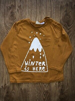 Zara Boys Winter Mountain Long Sleeve Top 3-4 Years EUC!!