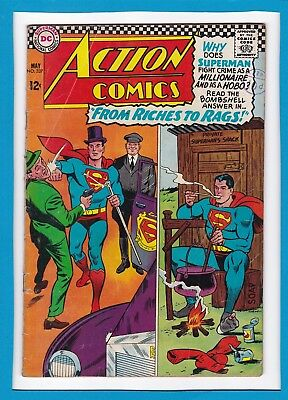 """Action Comics #337_May 1966_Very Good+_Superman_""""from Riches To Rags""""!"""