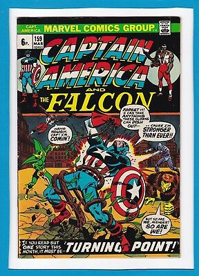 """Captain America & The Falcon #159_March 1973_Very Fine_""""turning Point""""_Uk!"""