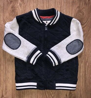 Next Baby Boys Quilted Style Zip Up Cardigan 18-24 Months!!