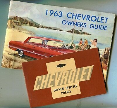 1963 Chevrolet Owners Guide and Owner Service Policy Booklet
