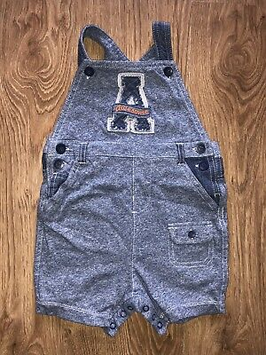 "Next Baby Boys ""A Awesome"" Short Dungarees Age 12-18 Months!!"