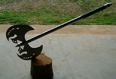 """5 Large  29.5""""  Medieval Metal Handle Axes With Sm. Sword, Battle Axe,free Ship"""