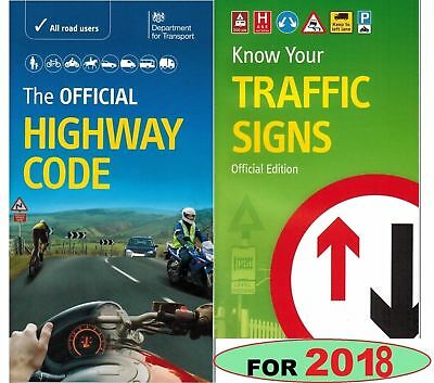 Latest DVSA Official Highway Code+Know Your Traffic Signs Book Test 2018 *Hw+tfc