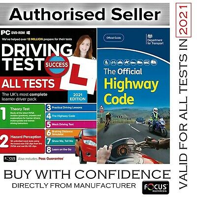 2018 Driving Theory Test & Hazard CD DVD + Official Highway Code Book UK *AtpcHw