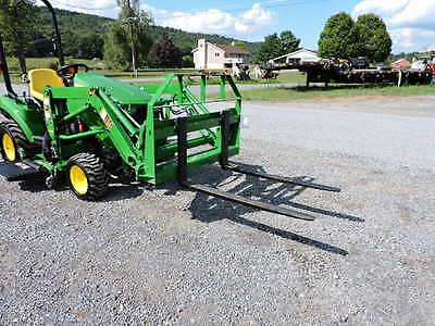 """NEW CID Xtreme 42"""" Pallet Forks John Deere Compact Tractor Loader Quick Attach!!"""