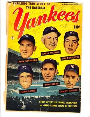 Thrilling True Story of the Baseball Yankees (1952): FREE to combine- in Fair+