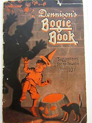1920s Catalog Dennison's Bogie Book Halloween Illustrated 32 Pages Costumes