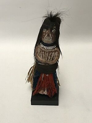 Yuman Pottery Doll c1900 Excellent Condition With Hair & Dressed Quechan Mojave