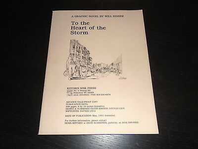 TO THE HEART OF THE STORM Will Eisner Advance Review Copy Kitchen Sink 1991