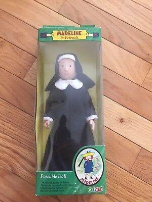 Miss Clavel Poseable Nun Teacher Doll - from Madeline, New in Box.