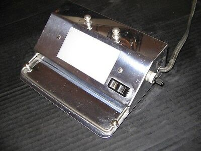 Small Vtg Beck Portable Medical? Chrome Metal Lamp/viewer/tray Superclean Works