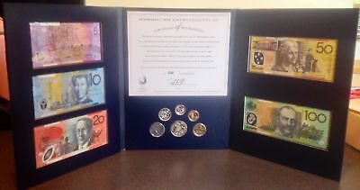 1997 Australia  Note and Coin Collection Portfolio Last Prefix Polymer NPA UNC