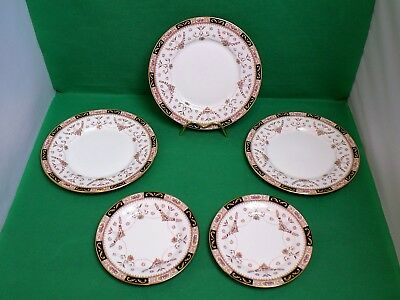 Queens Olde England 3 Salad Plates & 2 Side Plates