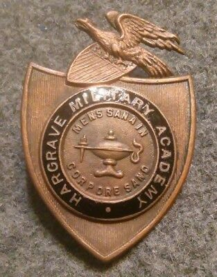 Hargrave Military Academy Hat Badge ROTC