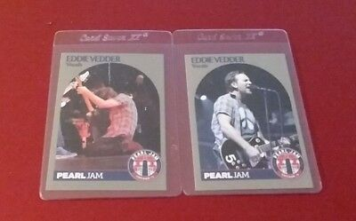 Eddie Vedder Pearl Jam 2 Card Lot Chicago Wrigley Field Cards August 18  20 Mint