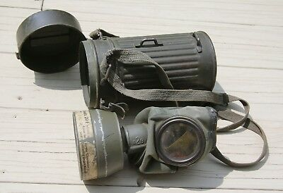 Nice untouched original German gas mask with canister