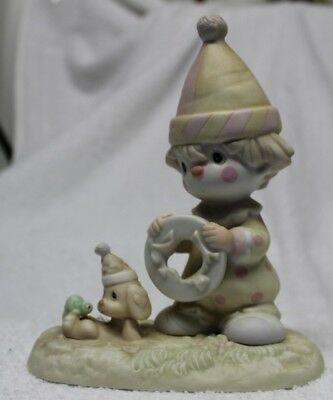 Prescious Moments Figurine The Lord Will Carry You Through-1985-#12467