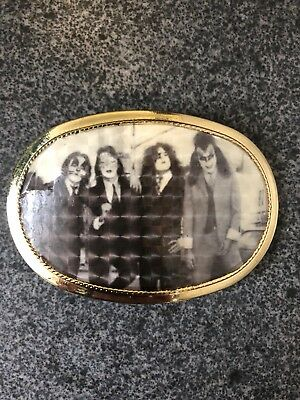 1977 KISS DRESSED TO KILL PACIFICA BELT BUCKLE 70s CUSTOM AUCOIN 1970s ROCK