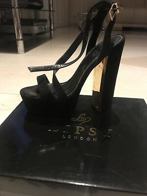 Lipsy Billie Black Suede Heels Size 5 (Used With Box) For Sale! Worn Once!
