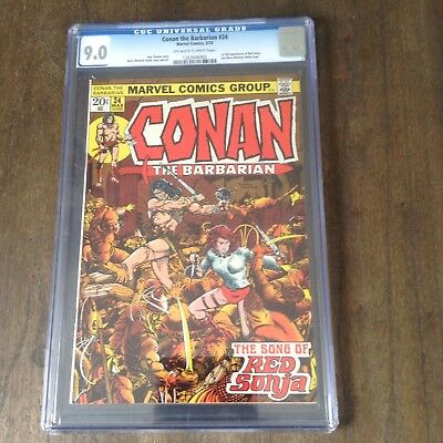 Conan The Barbarian 24 CGC 9.0 1st App Red Sonja