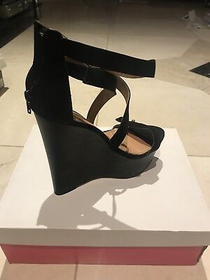 Just Fab Clarysa Black Heels Size 5 (New With Box) For Sale! Worn Once!