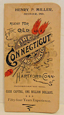 1905 Advertising Notebook, Old Fire Connecticut Ins., Hartford, CT, Seymour, IN