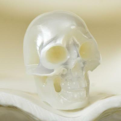 12.30 mm Human Skull Bead Carving White Freshwater Pearl 1.20 g drilled