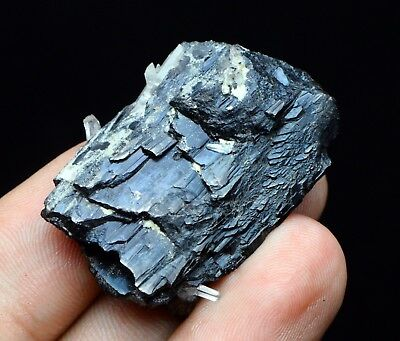40g Natural Museum Quality Wolframite On Quartz Specimen Mined In Hunan China