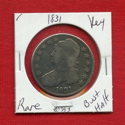 1831 Capped Bust Silver Half Dollar 80383 Nice Coin Us Mint Rare Key Date Estate