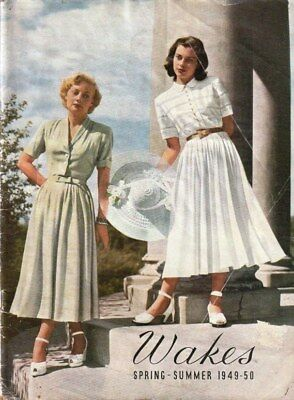 1949-50 WAKES of MELBOURNE Fashion Catalogue Hats Undies Frocks Shoes Bras