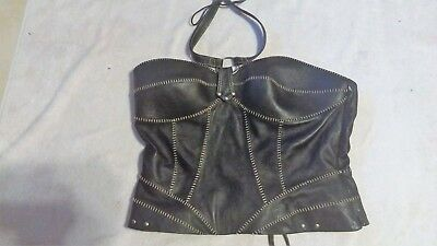 Authentic Harley Davidson Leather Bustier Sz 6