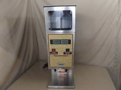 WILBUR CURTIS DHG-10-02 15 lb. Double Hopper Coffee Bean Grinder Machine WORKS!