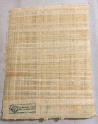 The Librarians TV Show Prop Production Egyptian Papyrus Parchment Paper Stamp