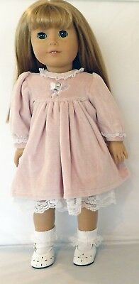 Pink Blush Dress with Embroidered Fairy Design Fits 18 inch American Girl Dolls