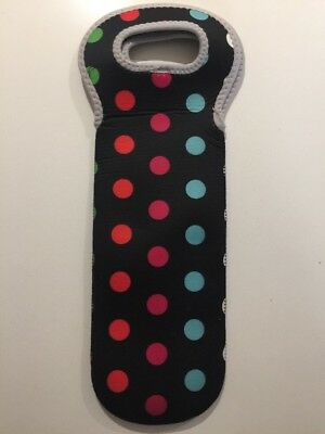 Dots Wine Bottle Cooler Carry Bag Neoprene
