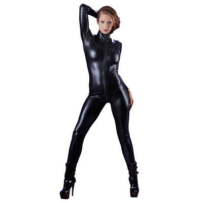 Cottelli Collection Party Langarm Overall schwarz S Body Catsuit Bekleidung