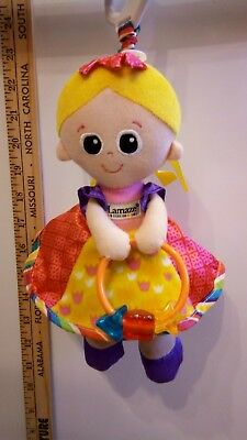 Lamaze Princess Sophie Blonde Baby Doll Stroller Car Seat Learning Toy Girls