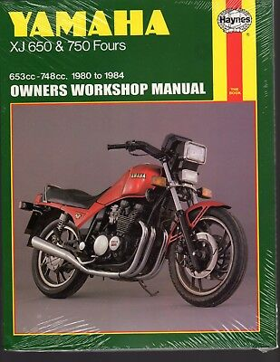 YAMAHA XJ650 & 750 FOURS 1980 to 1984 OWNERS WORKSHOP MANUAL