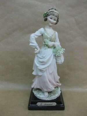 Vintage Capodimonte G. Armani Figurine Lady With Flowers