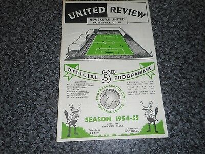 NEWCASTLE UNITED  v  TOTTENHAM HOTSPUR ' SPURS '  1954/5 ~ OCT 16th  **SCARCE**