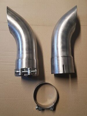Stainless Steel Exhaust Pipe Stack 89mm. (3.5''inches) inside diameter