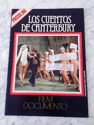 Pasolini Canterbury Tales 52 Pag Spanish Book Magazine 1977 Excellent Condition!