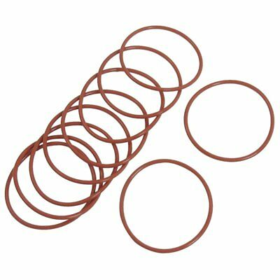 3X(10 Pcs Red Silicone 45mm x 2mm Oil Seal O Rings Gaskets Washers W8Y3