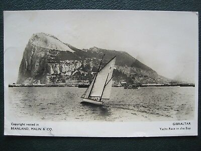 Gibraltar:    Yacht Race In The Bay. Real Photographic.  Posted In 1942.
