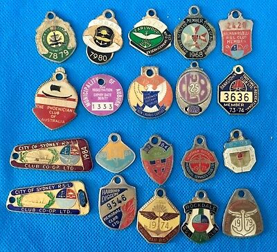 Vintage Collection of 20 leagues club, Masonic & other club enamel badges lot 3