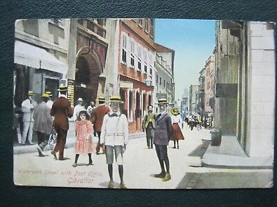 Gibraltar:    Waterport Street With Post Office.