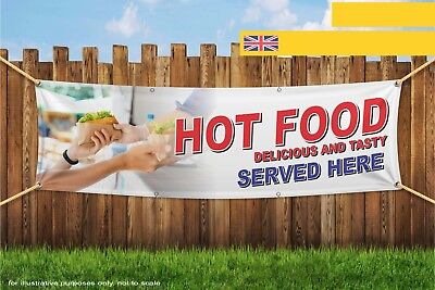Hot Food Delicious And Tasty Take Away Eat Heavy Duty PVC Banner Sign 3727